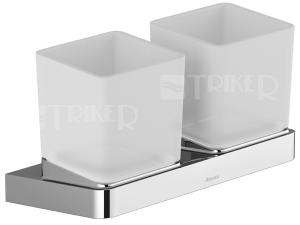 10° držák s dvěma pohárky TD 220.00 sklo/chrom