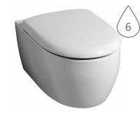 4U klozet závěsný 53 cm Rimfree bez splachovacího kruhu, bílý, 203460000, Keramag