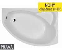 Agat vana akrylátová 150 x 100 cm, pravá, XWA0950000, Kolo