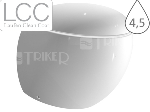 Alessi One klozet stojící 41,5cm Vario odpad/hluboké splachování, bílý+LCC