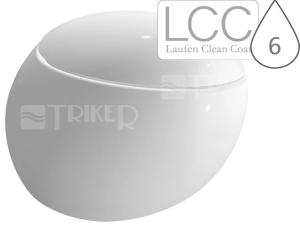 Alessi One klozet závěsný 58,5 cm hluboké splachování bílý+LCC