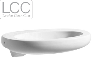 Alessi One umyvadlo polozápustné 75 x 50 cm bez otvoru bílé+LCC