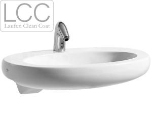 Alessi One umyvadlo polozápustné 75 x 50 cm s otvorem bílé+LCC