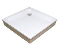 Angela EX vanička akrylátová samonosná 80 x 80 x 18,5cm, bílá, A004401320, Ravak