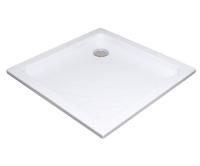 Angela LA vanička akrylátová 80 x 80 x 9,5cm, bílá, A014401220, Ravak