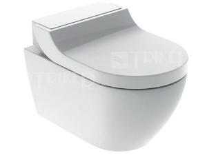 AquaClean Tuma Comfort klozet závěsný se sprchovacími funkcemi, bílý/černé sklo