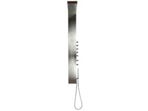 Arges sprchový panel s pákovou baterií, nástěnný, nerezová ocel/chrom