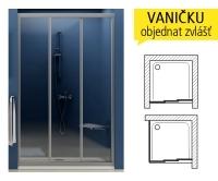 ASDP3 sprchové dveře ASDP3-120 (1170-1210mm) profil:bílý, výplň:pearl, 00VG010211, Ravak