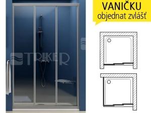 ASDP3 sprchové dveře ASDP3-90 (870-910mm) profil:bílý, výplň:grape