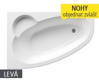 Asymmetric vana akrylátová 170 x 110cm, levá, bílá, C481000000, Ravak