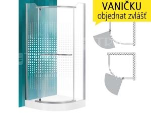 Austin sprchový kout 90 x 90 cm (880-900 mm) R550 profil:stříbro, výplň:transparent+potisk