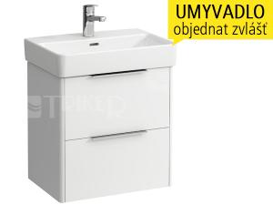 Base skříňka s 2 zásuvkami pod umyvadlo Laufen Pro S 55 x 38 cm, bílá/lesk