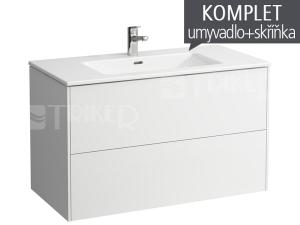 Base skříňka s 2 zásuvkami s umyvadlem 100 x 50 cm