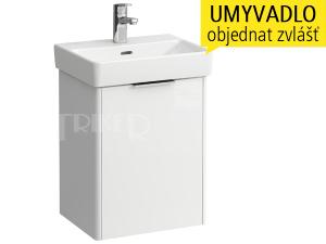 Base skříňka slevými dvířky pod umývátko Pro S45 x 34 cm, bílá/lesk