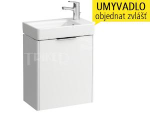 Base skříňka spravými dvířky pod umývátko Pro S48 x 28 cm, bílá/lesk