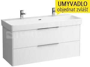 Base skříňka se 2 zásuvkami pod umyvadlo Pro S120 x 46 cm, bílá/lesk