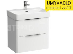 Base skříňka se 2 zásuvkami pod umyvadlo Pro S60 x 38 cm, bílá/lesk