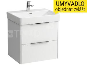 Base skříňka se 2 zásuvkami pod umyvadlo Pro S 60 x 46,5 cm, bílá/lesk
