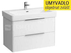 Base skříňka se 2 zásuvkami pod umyvadlo Pro S85 x 46 cm, bílá/lesk
