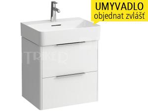 Base skříňka se 2 zásuvkami pod umyvadlo Val 55 x 42 cm, bílá/lesk