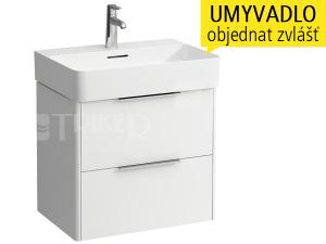 Base skříňka se 2 zásuvkami pod umyvadlo Val 60 x 42 cm, bílá/lesk