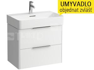 Base skříňka se 2 zásuvkami pod umyvadlo Val 65 x 42 cm, bílá/lesk