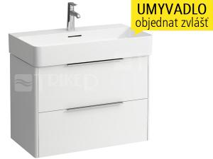 Base skříňka se 2 zásuvkami pod umyvadlo Val 75 x 42 cm, bílá/lesk