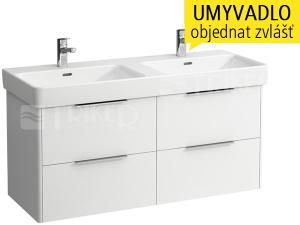 Base skříňka se 4 zásuvkami pod umyvadlo Pro S120 x 46 cm, bílá/lesk