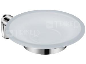 Basic držák se skleněnou mýdlenkou chrom