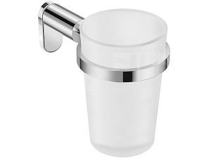 Basic držák se skleněným pohárkem, chrom
