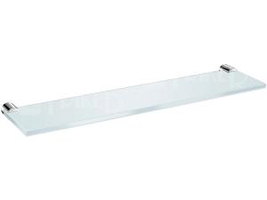 Basic polička skleněná 40 cm, chrom