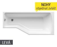 BeHappy vana akrylátová 150 x 75cm, pravá, bílá, C151000000, Ravak