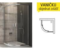 BLCP4 sprchový kout BLCP4-90 R500 (875-895mm) profil:satin, výplň:transparent, 3B270U00Z1, Ravak