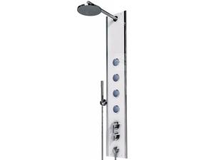 Boss Eco P2 sprchový panel s pákovou baterií rohový, bílá/chrom