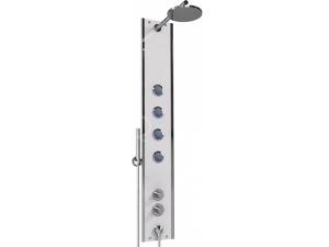 Boss Eco T2 sprchový panel s termostatickou baterií, rohový, bílá/chrom
