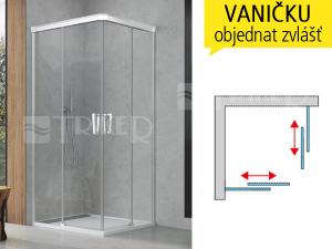 CAE2 Sprchové dveře dvoudílné posuvné