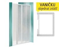 CD4 sprchové dveře CD4/1300 (1285-1310mm), profil:bílý, výplň:kůra, 316-1300000-04-01, Roltechnik