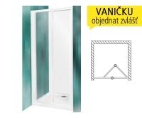 CDZ2 sprchové dveře zalamovací CDZ2/700 (650-710mm), profil:bílý, výplň:transparent, 342-7000000-04-02, Roltechnik