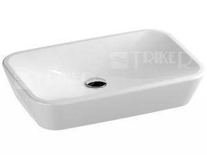 Ceramic 600 R umyvadlo keramické 60 x 40 cm bez přepadu, bílé