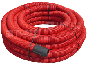 Chránička kabelová červená korugovaná  50/42mm (metráž)