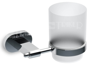Chrome držák s pohárkem (sklo) CR 210.00 chrom