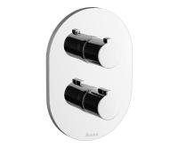 Chrome termostatická podomítková baterie vanová/sprchová CR 063.00 s přepínačem, X070094, Ravak