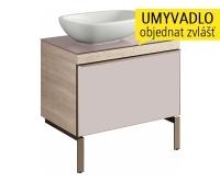 Citterio skříňka s 1 zásuvkou 73,4 cm pro umyvadla na desku, světlý dub, 835275000, Keramag