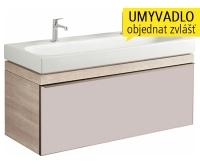 Citterio skříňka s 1 zásuvkou pod umyvadlo 120 cm, světlý dub, 835120000, Keramag