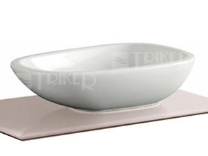 Citterio umyvadlo na desku 56 x 40 cm bez přepadu, bílé