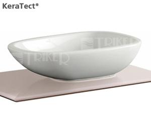 Citterio umyvadlo na desku 56 x 40 cm bez přepadu, bílé+KeraTect