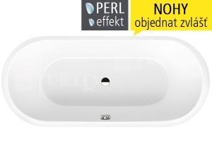 Classic Duo Oval vana ocelová 3,5 mm 180 x 80 cm 111, bílá + Perl-Effekt