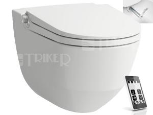Cleanet Riva klozet závěsný 60 cm Rimless se sprchovacími funkcemi, bílý/LCC