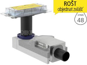 CleanLine souprava pro hrubou montáž sprchového kanálku, pro podlahy 90-200mm, odpad DN50