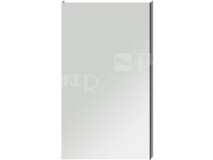 Clear zrcadlo na hliníkovém rámu bez osvětlení 45 x 81 cm